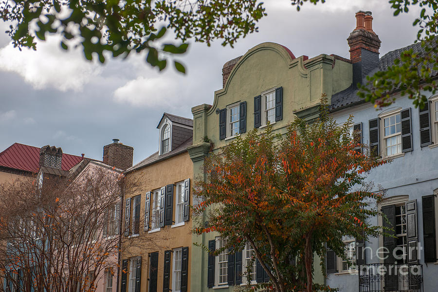 Rainbow Row Battery Homes In Charleston Photograph