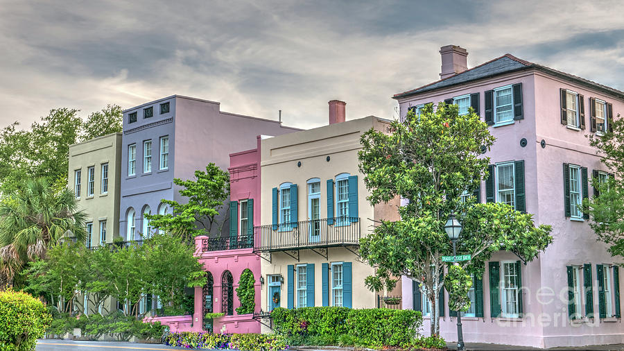 Rainbow Row In Historic Downtown Charleston South Carolina Photograph