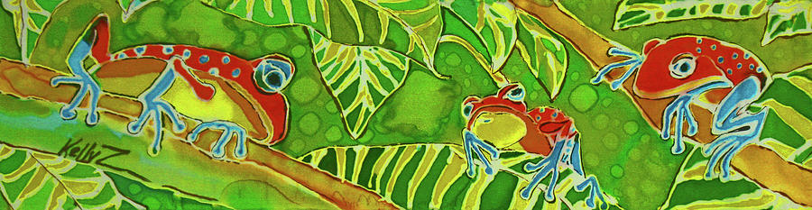 Frog Painting - Rainforest Buds by Kelly     ZumBerge