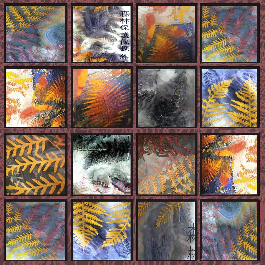Glass Tiles Sculpture - Rainforest Remnants by Sarah King