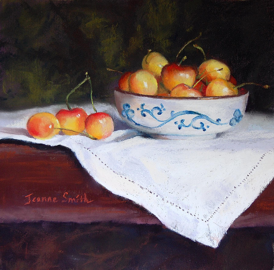 Cherry Painting - Rainier Cherries by Jeanne Rosier Smith