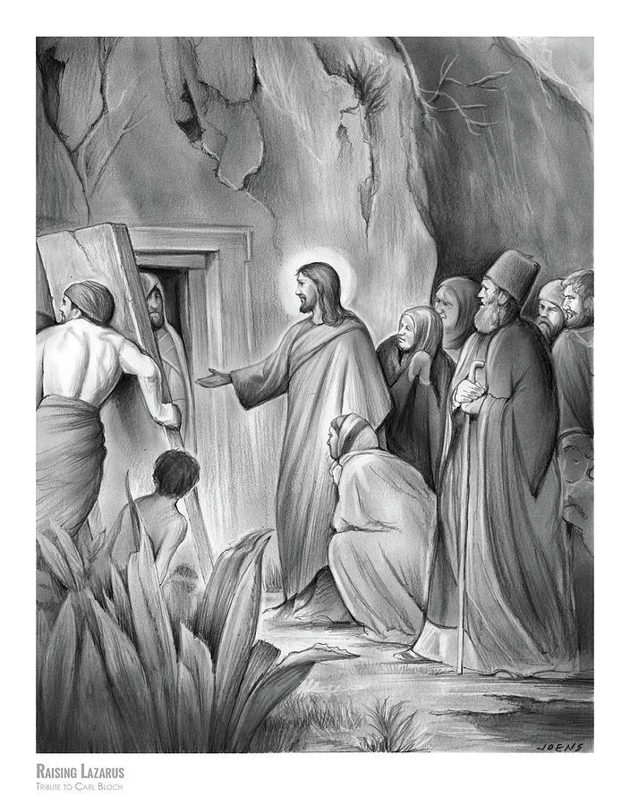 Raising Lazarus Drawing