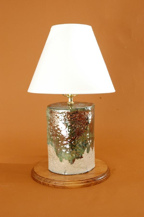 Raku Copper Lamp Ceramic Art