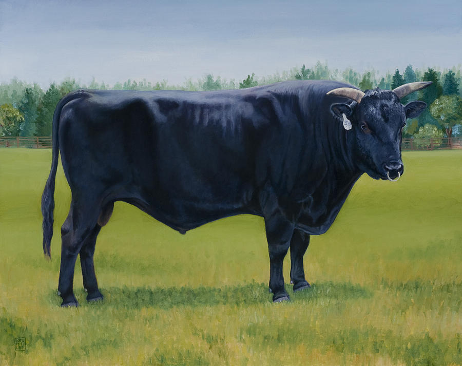 Bull Painting - Ralphs Bull by Stacey Neumiller