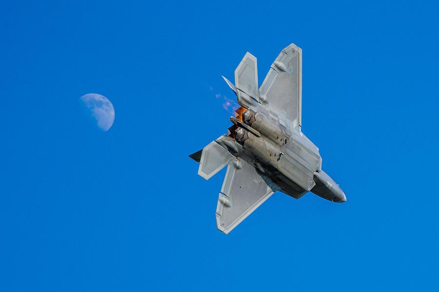 Airventure 2015 Photograph - Raptor Moon by Mark Goodman