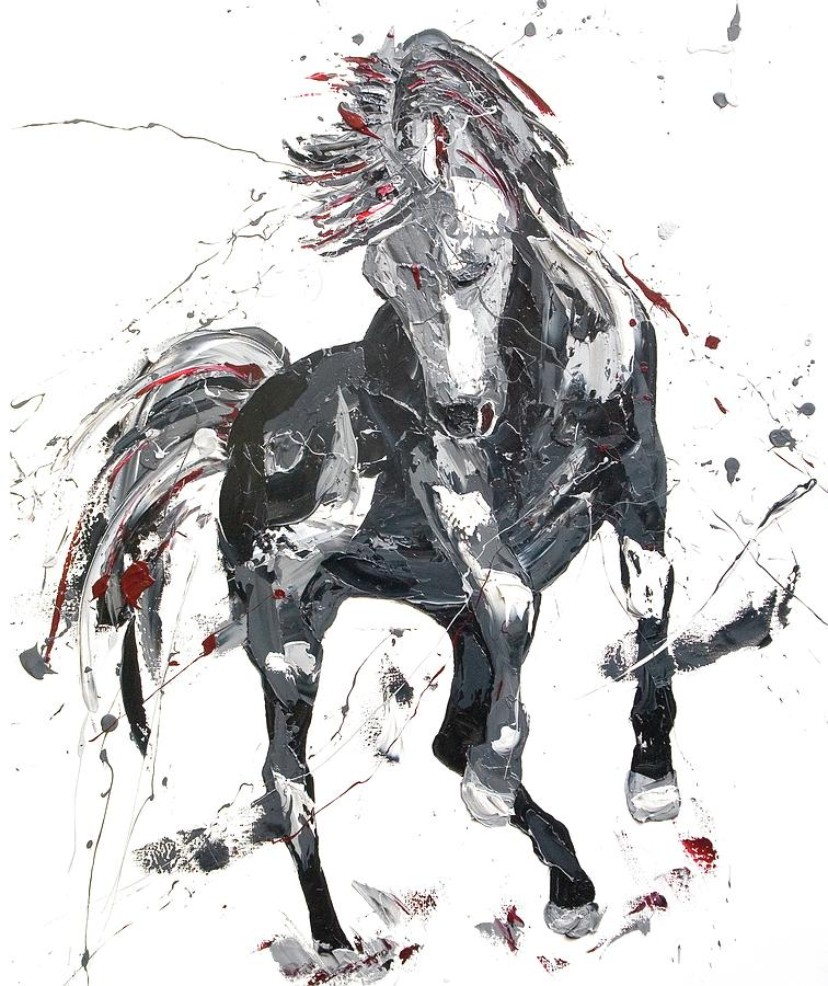 Horse Painting - Rapture by Penny Warden