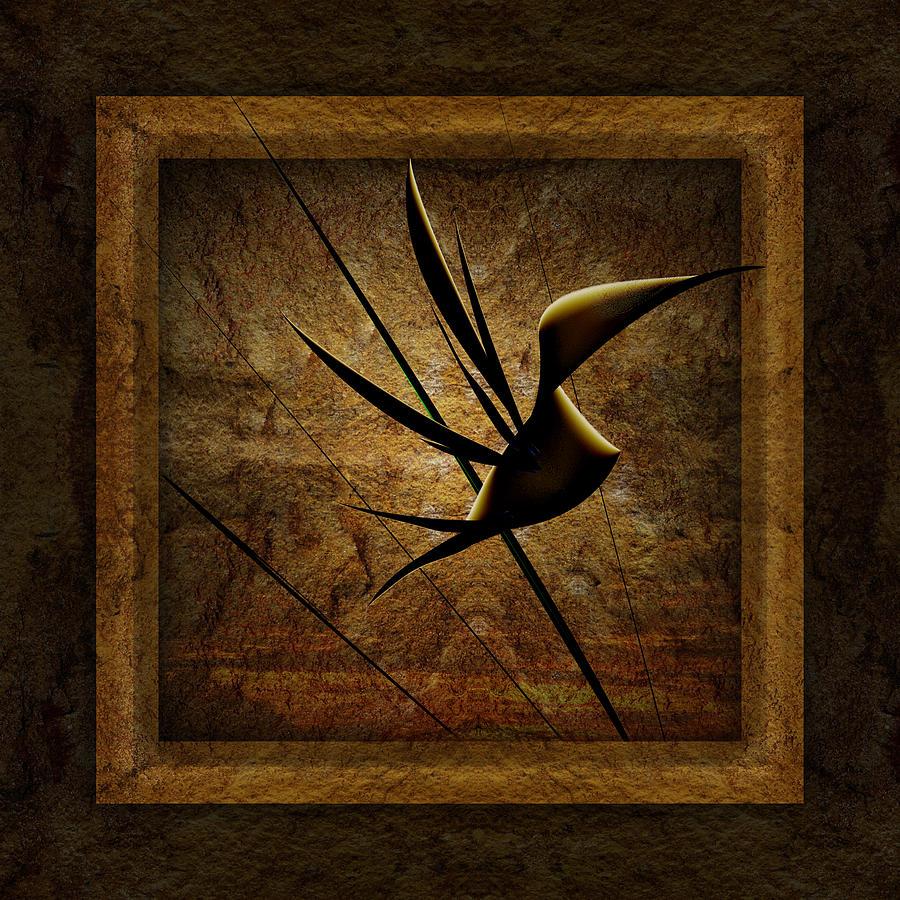 Abstract Art Digital Art - Rare Bird by Phil Clark