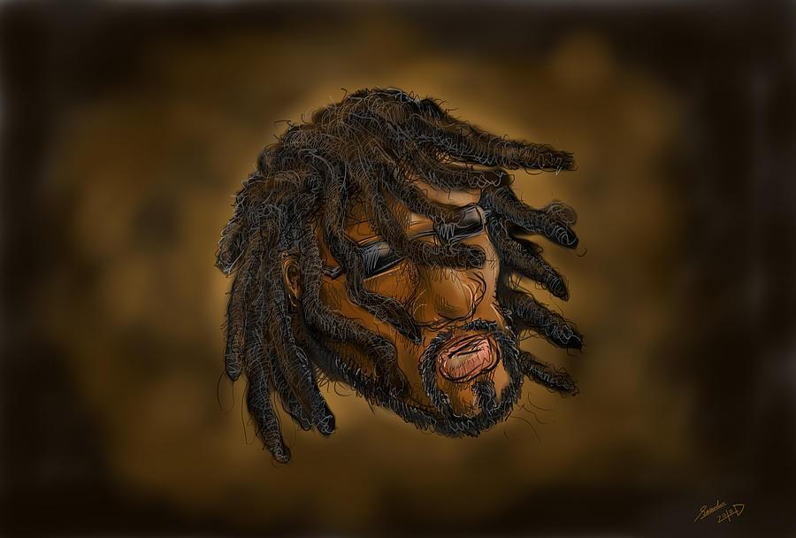 Rastafari Digital Art - Rasta by Sasank Gopinathan