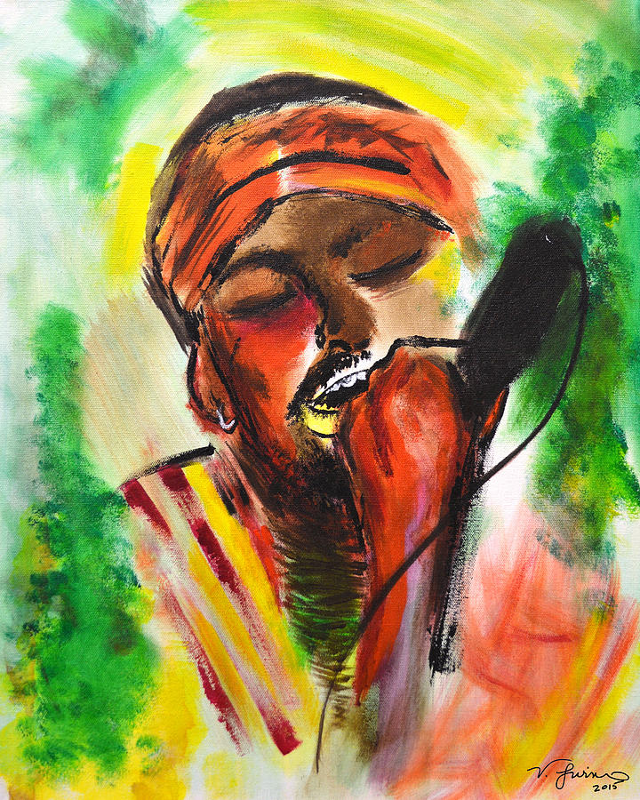 Rasta Singer is a painting by Victoria McClain which was uploaded on ...