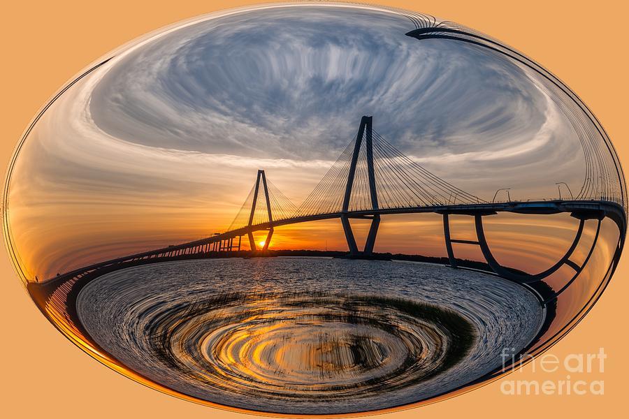 Ravenel Bridge Sphere Photograph
