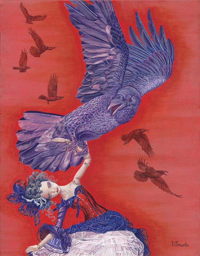 Bird Painting - Ravenous by Vlasta Smola