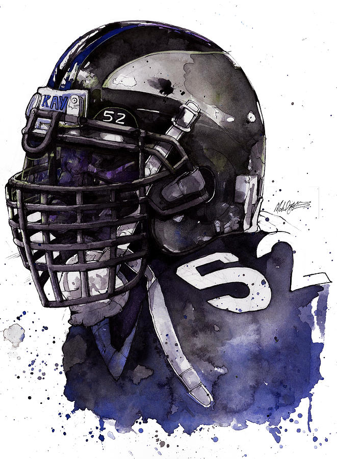 Ray Painting - Ray Lewis -  Last Game by Michael  Pattison