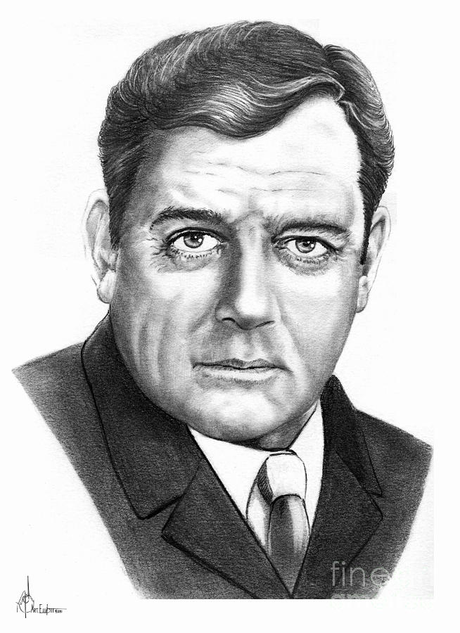 Raymond Burr Drawing