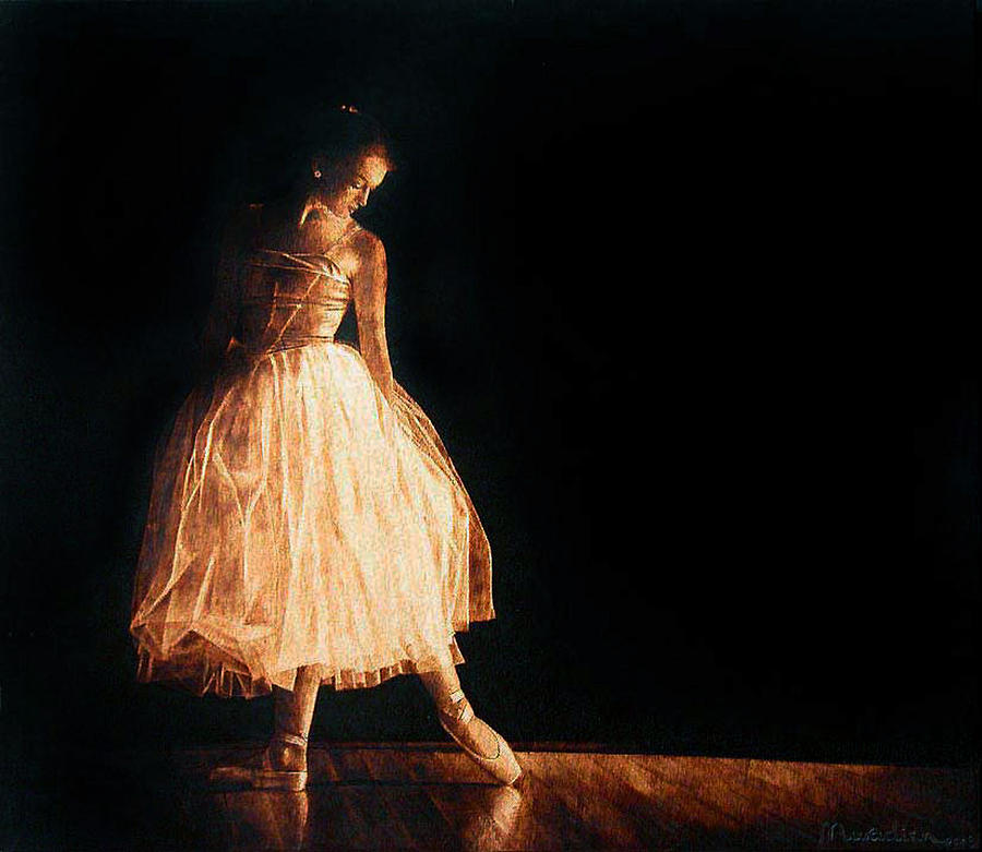 Dino Muradian Pyrography - Ready For Dance  by Dino Muradian
