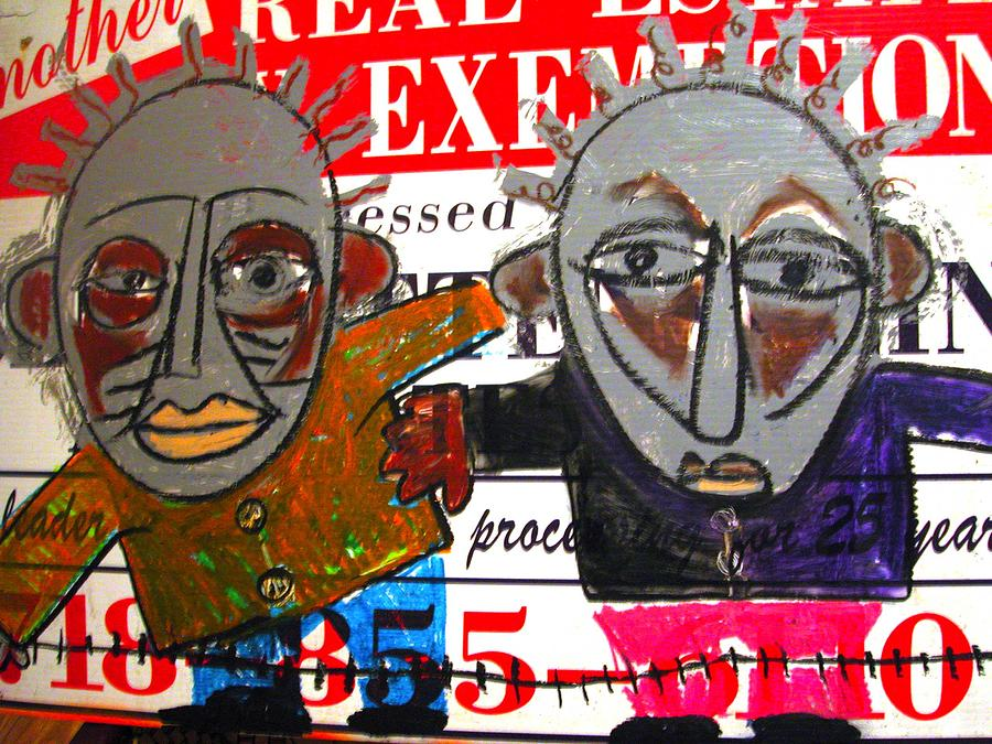 Nappy Head Art Painting - Real Estate by Robert Daniels