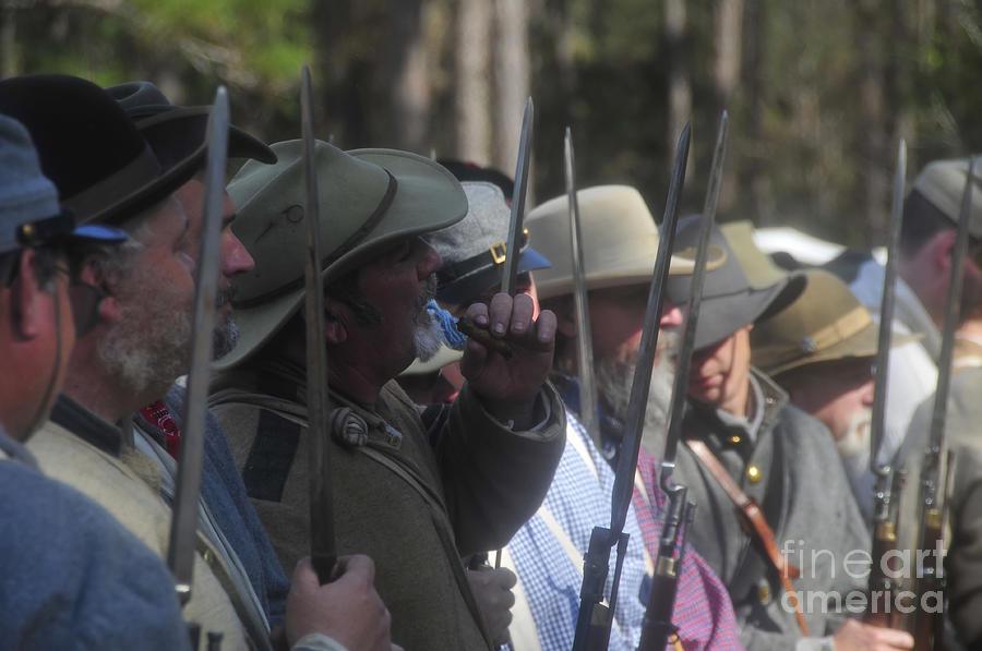 Rebels Photograph - Rebel Bayonets by David Lee Thompson