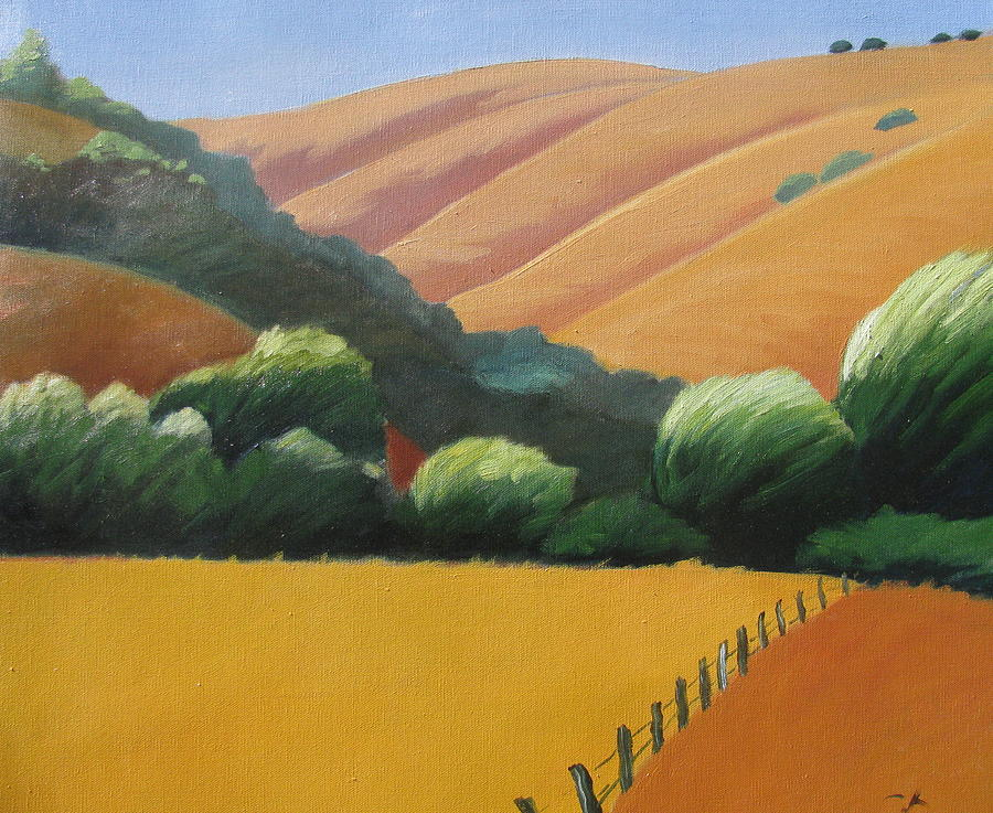 California Hills Painting - Receeding Hills by Gary Coleman