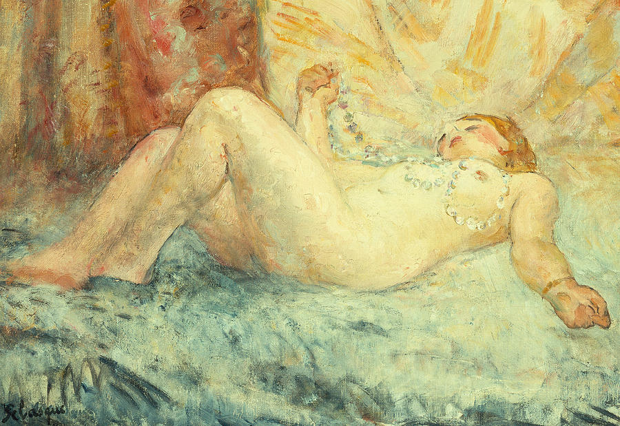 Nude Painting - Reclining Nude by Henri Lebasque