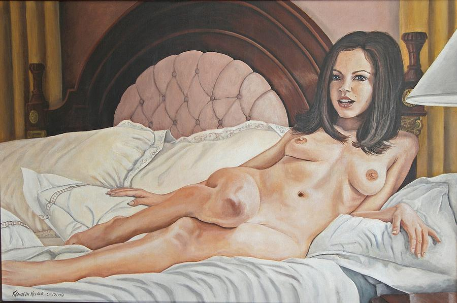 Nude Painting - Reclining Nude by Kenneth Kelsoe