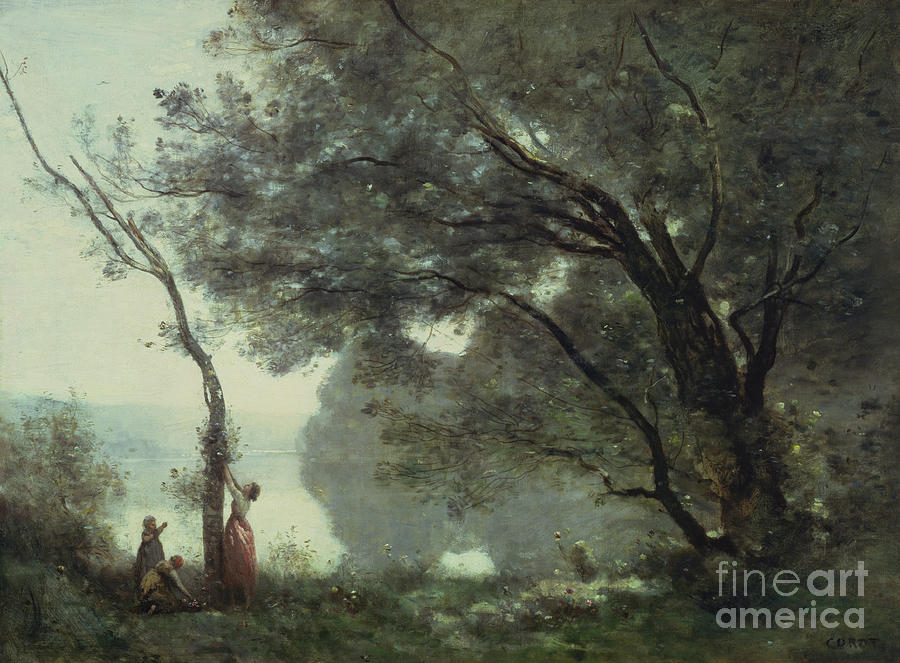 Recollections Painting - Recollections Of Mortefontaine by Jean Baptiste Corot