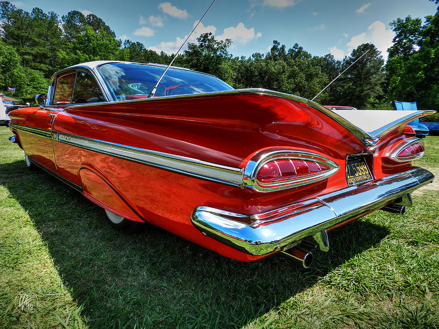 1959 Chevy Impala Photograph - Red 59 Impala 001 by Lance Vaughn