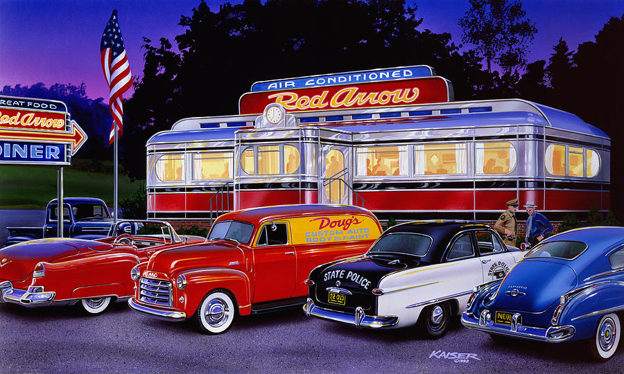 Red Arrow Diner Photograph