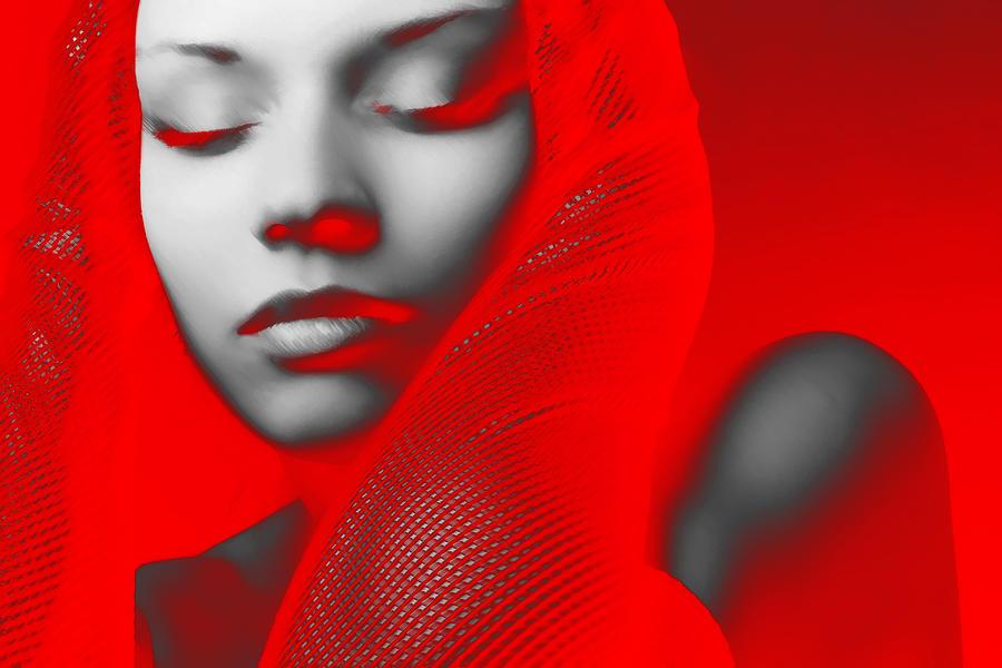 Red Beauty Digital Art