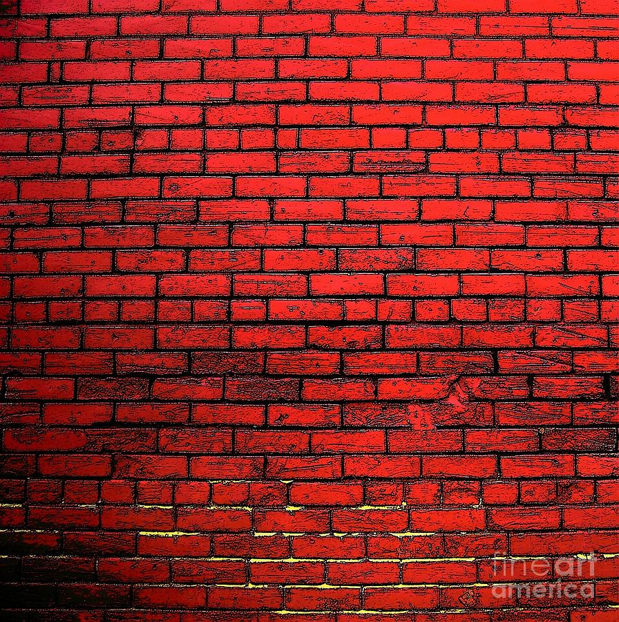 Red Brick Wall Decor : Red brick wall photograph by victor sexton