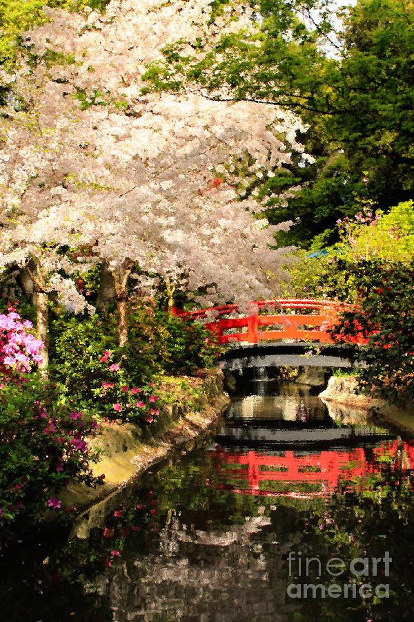 Red Bridge Reflection Photograph