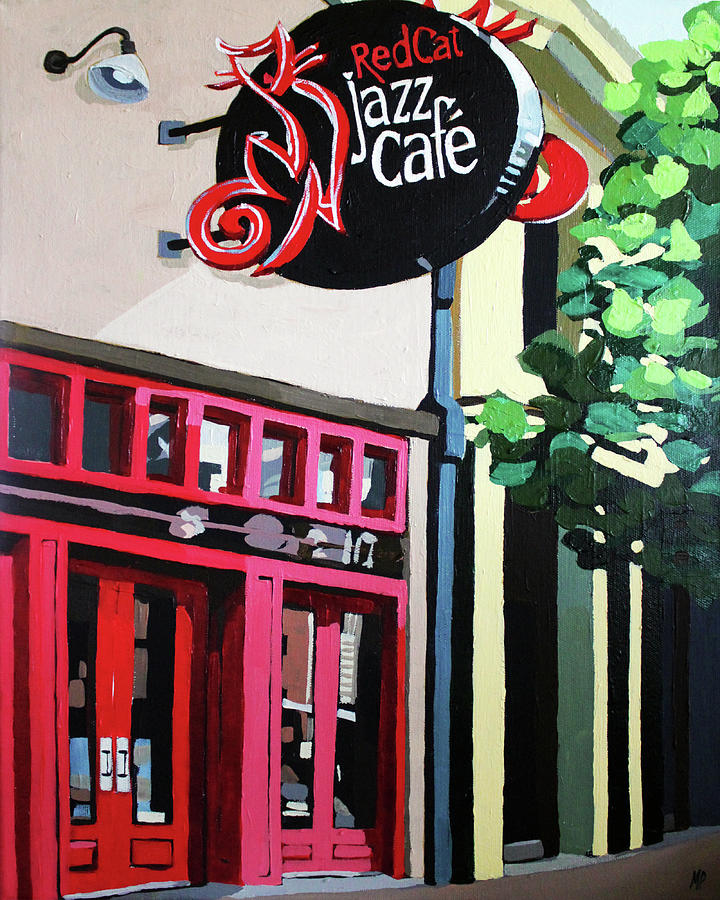 Red Cat Jazz Cafe Painting
