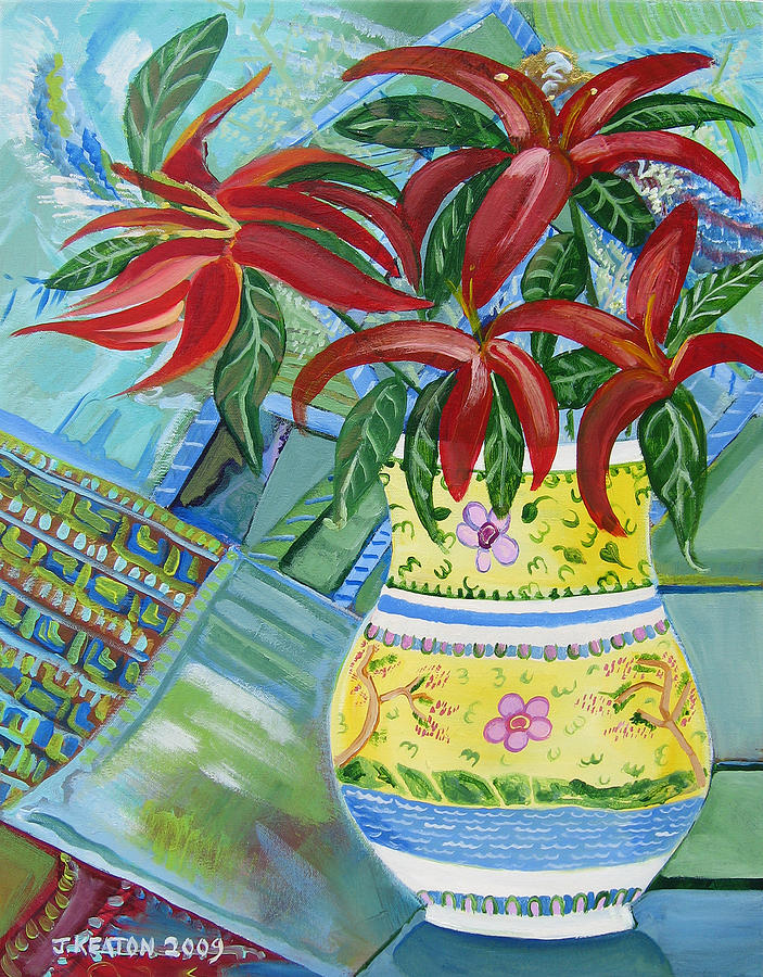 Red Day Lillies Painting