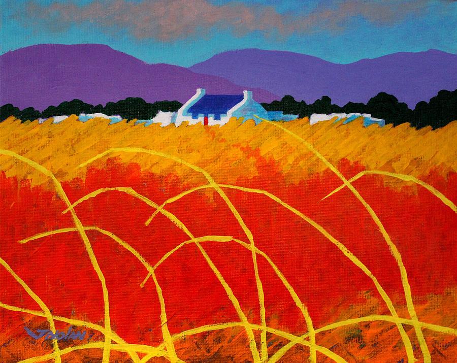 Landscape Painting - Red Door by John  Nolan