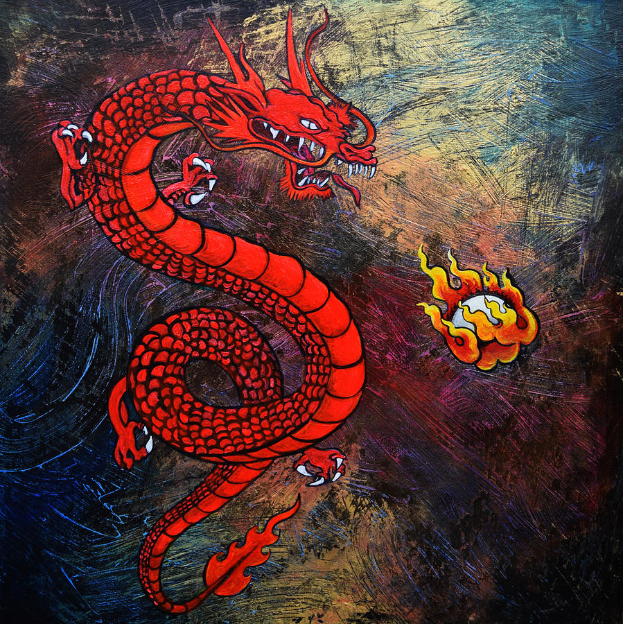 Red Dragon is a painting by Stephen Humphries which was uploaded on ...