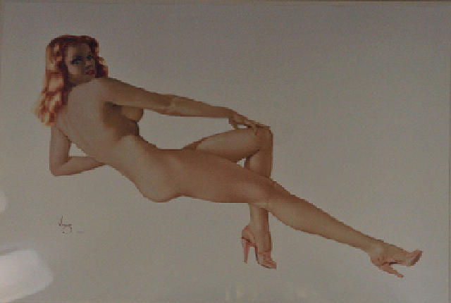Alberto Vargas Mixed Media - Red Fire - Legacy Series Number Five by Alberto Vargs