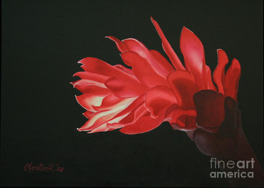 Red Ginger Painting - Red Ginger by Christine Fontenot