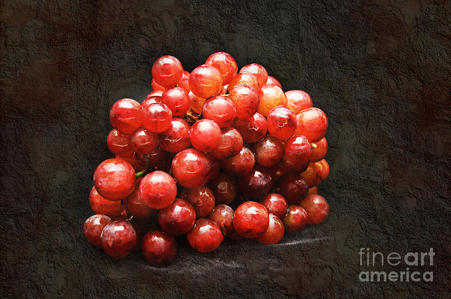 Red Photograph - Red Grapes by Andee Design