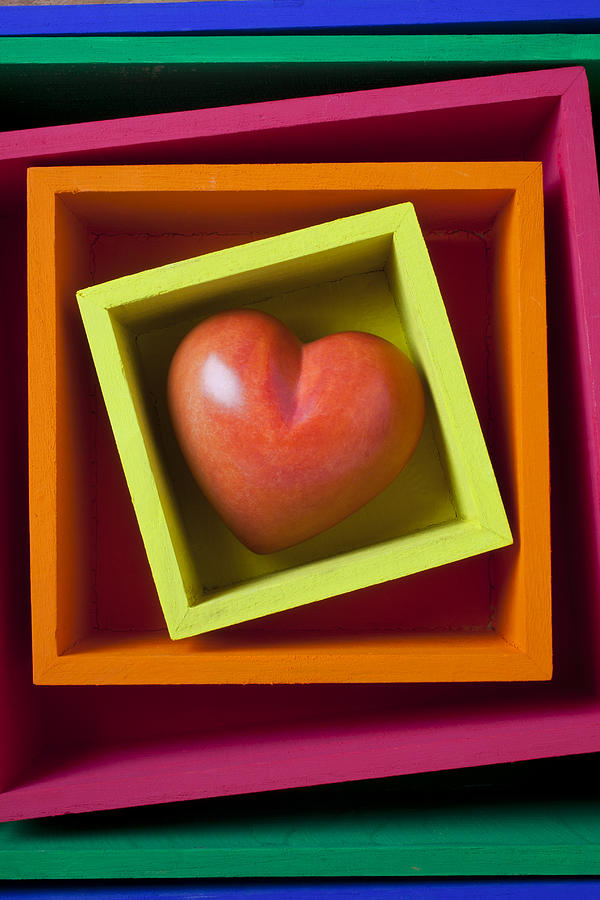 Red Photograph - Red Heart In Box by Garry Gay
