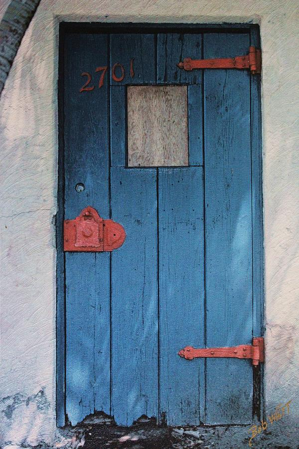 Door Photograph - Red Hinges by Bob Whitt