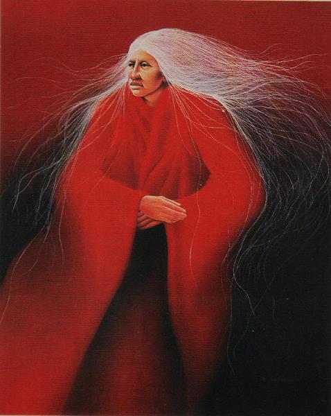 Lakota Print - Red Mountain Morning by Frank Howell