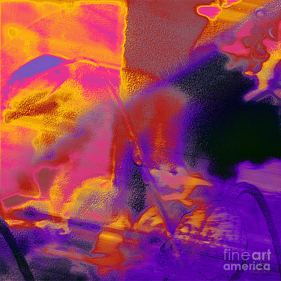 Red Orange Purple Abstract Digital Art By Dee Flouton