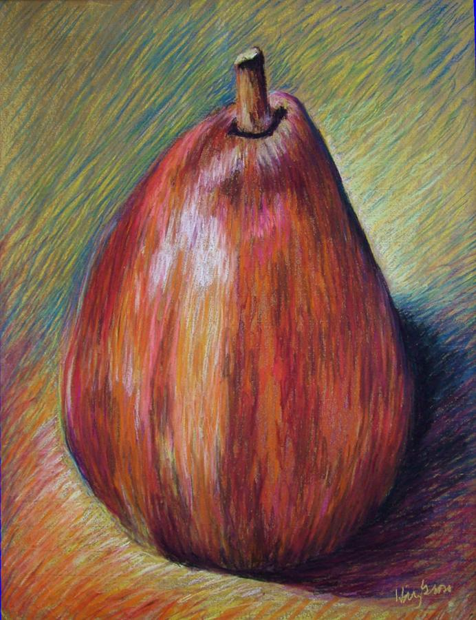 Fruit Painting - Red Pear by Hillary Gross
