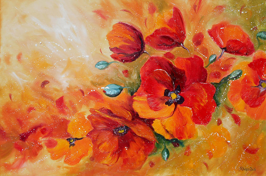 Oil Paintings Of Red Poppies