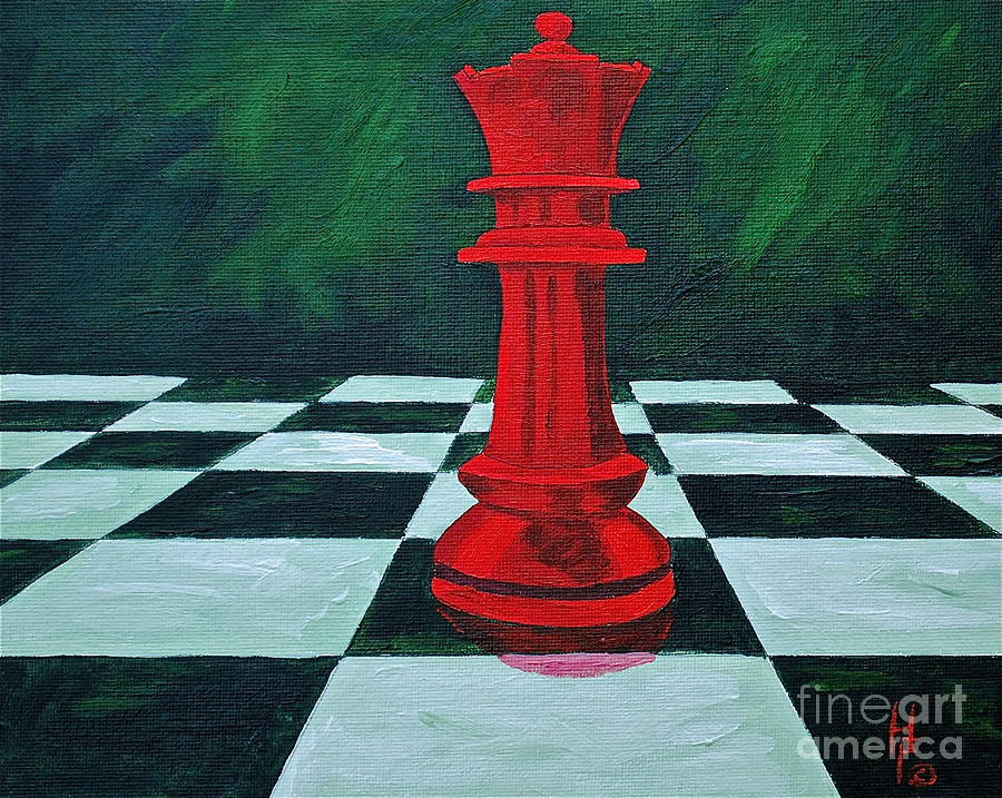 Games / Toys/ Chess Kids Games Queen  Painting - Red Queen  by Herschel Fall
