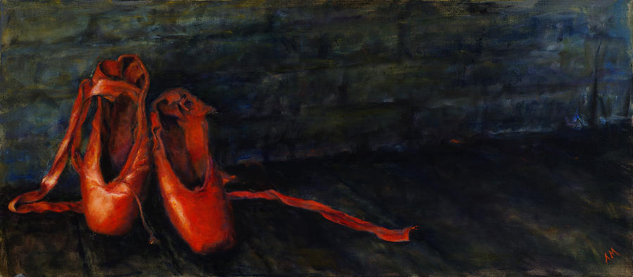 Dancer Painting - Red Shoes by Ann Moeller Steverson
