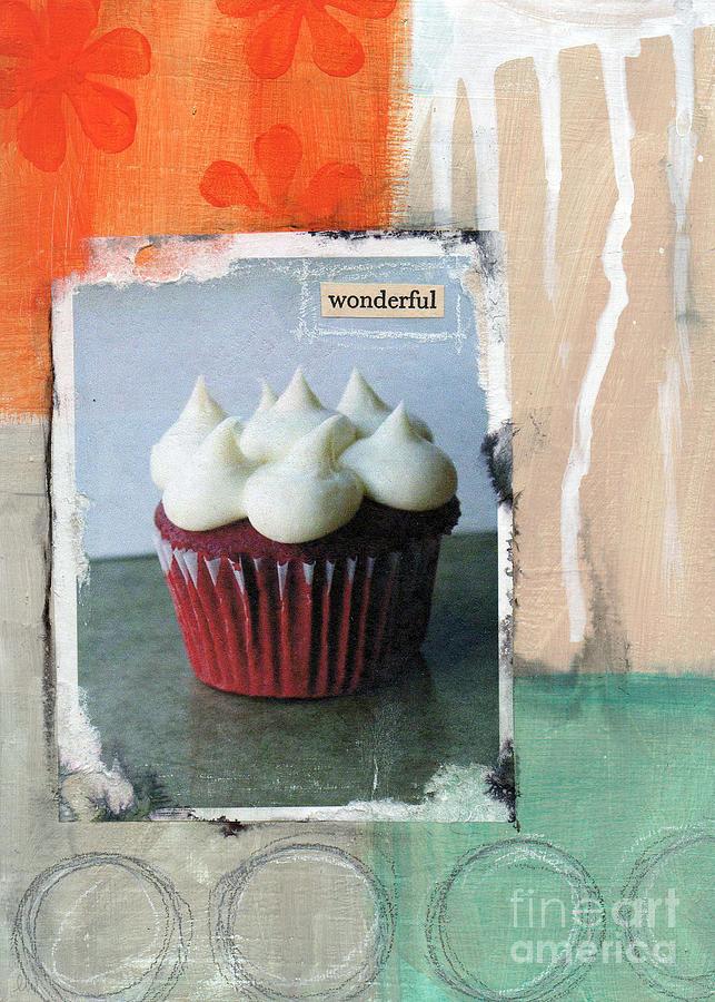 Cupcake Mixed Media - Red Velvet Cupcake by Linda Woods
