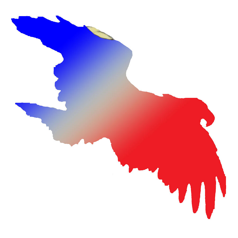 Red, White And Blue Eagle is a piece of digital artwork by Jean Habeck ...