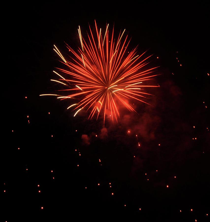 Fireworks  Photograph - Redburst 2 by Vijay Sharon Govender