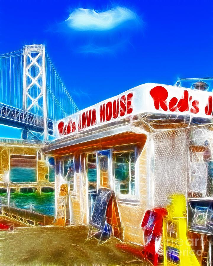 Reds Java House Electrified Photograph
