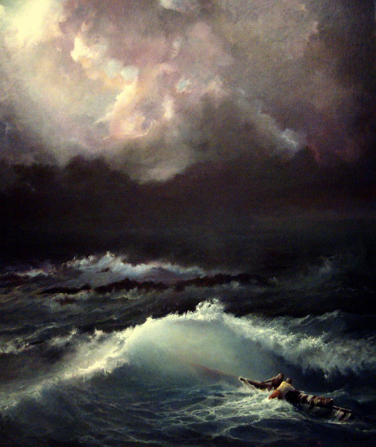 Seascape Painting - Reef by Mikhail Savchenko