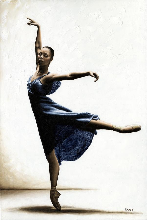 Dancer Painting - Refined Grace by Richard Young